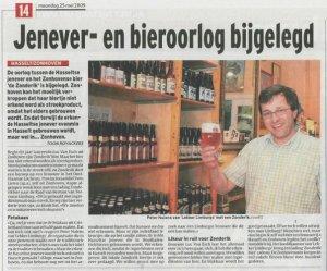 Hasselt-Zonhoven: Jenver- en bieroorlog bijgelegd.