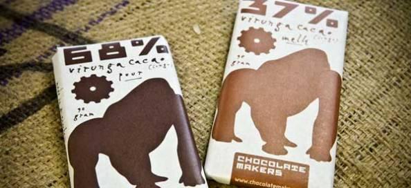 DE GORILLABAR WORDT GEMAAKT VAN CACAO UIT CONGO: HET BESCHERMT MENS EN BERGGORILLA - WAT VERDIENT DE CACAOBOER? (http://chocolatemakers.nl/de-gorilla-bar/)