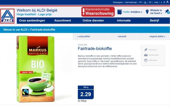 KLIK OP DE WEBSITE VAN ALDI in BELGIE TE OPENEN