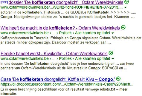LEES DE PUBLICATIES VAN OXFAM-WERELDWINKELS OVER DE KOFFIEKETEN