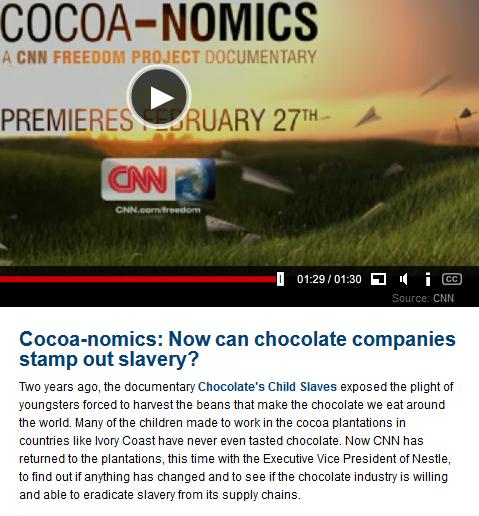Cocoa-nomics, door Richard Quest, wordt op CNN International voor het eerst getoond op 27 februari 2014.