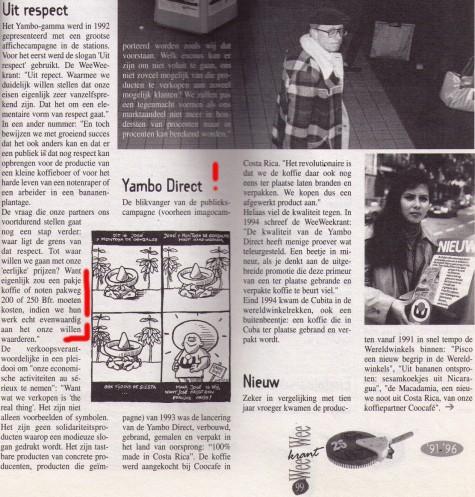DE YAMBO DIRECT WAS ANNO 1993 DE FAIRSTE KOFFIE VAN DE WERELD