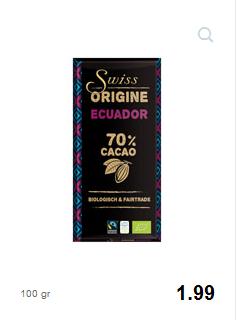 Swiss Original Ecuador 70%