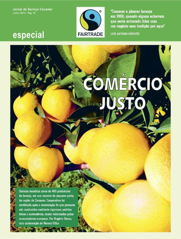 blz 1 artikel Jornal de Serviço Cocamar