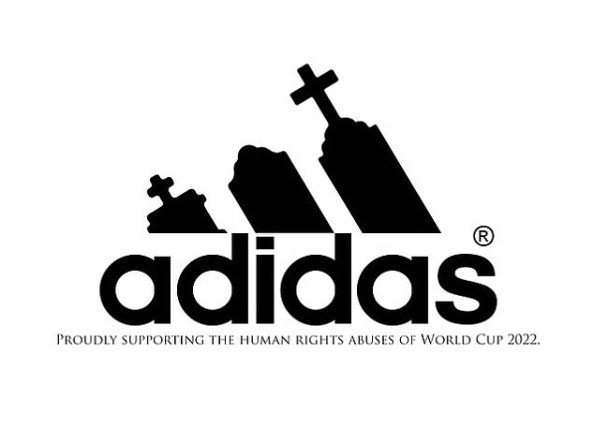 THE SHAMING OF THE SPONSORS: ARTISTS ATTACK MULTI-NATIONALS BACKING QATAR WORLD CUP FOLLOWING FIFA CORRUPTION SCANDAL READ MORE: HTTP://WWW.DAILYMAIL.CO.UK/NEWS/ARTICLE-3103286/ADIDAS-STRIPES-GRAVESTONES-MCDONALD-S-ARCHES-WHIPS-INTERNET-ARTISTS-ATTACK-MULTI-NATIONALS-SPONSORING-2022-WORLD-CUP-QATAR-FIFA-ACCUSED-CORRUPTION-BRIBERY.HTML