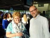 Marleen Baeten van fair@school (Hast campus) en Nicolas Lambert van Fairtrade Belgium